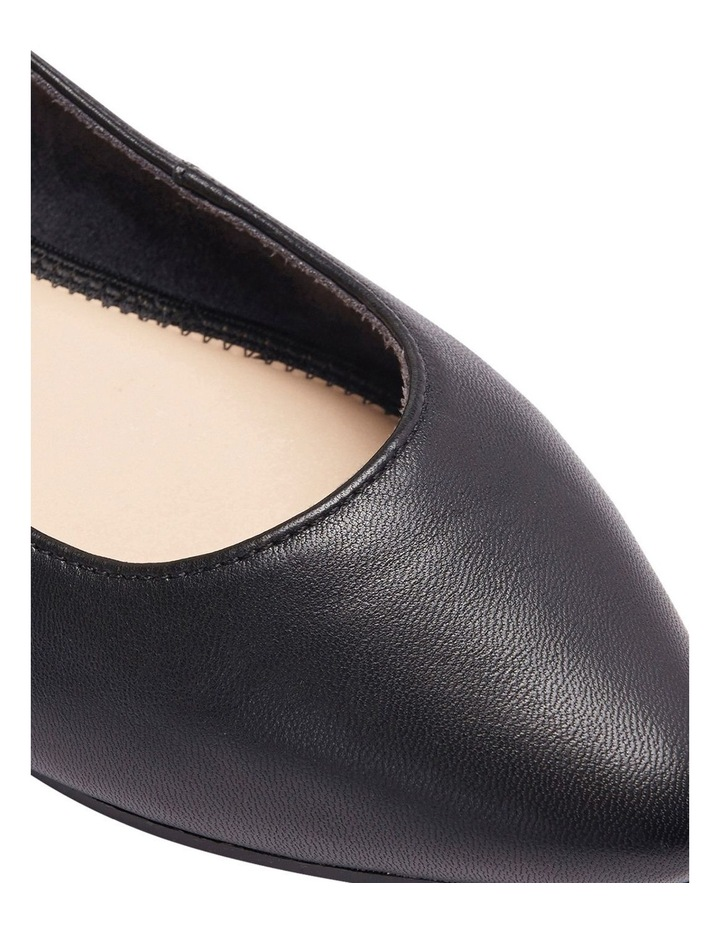 Lucia Black Glove Flat Shoes image 13