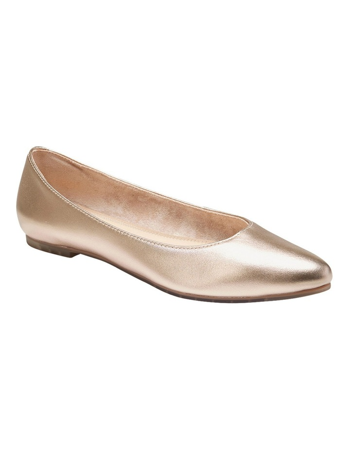 Lucia Gold Metalic Flat Shoes image 2