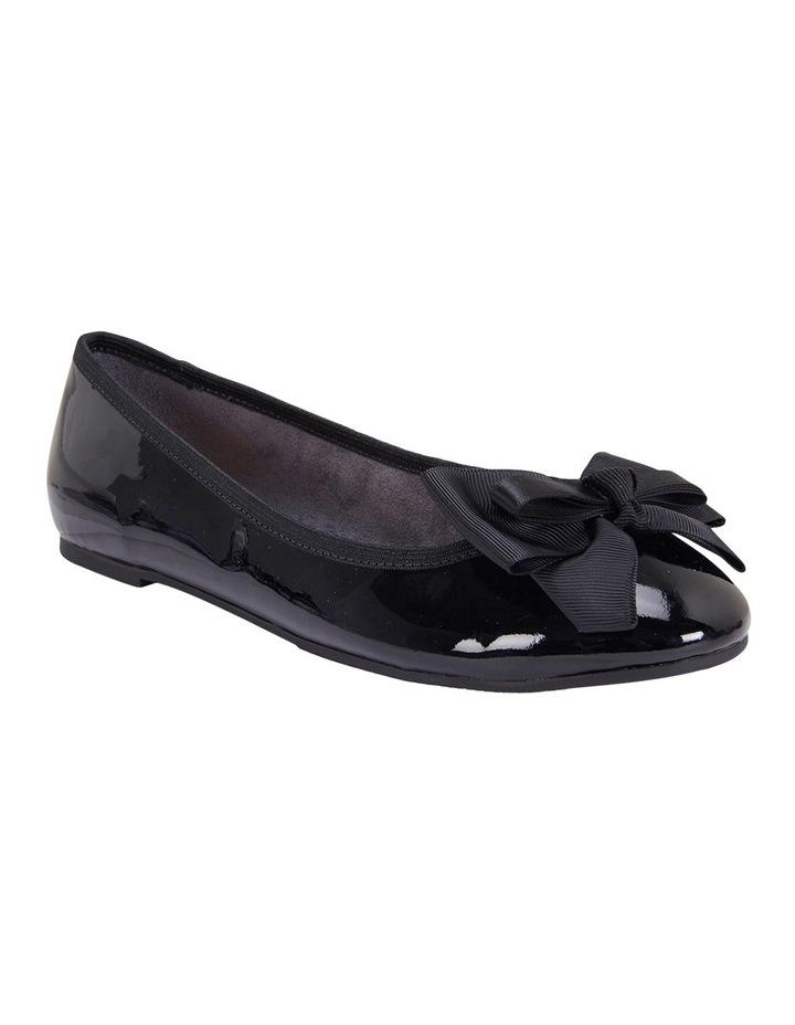 Gem Black Patent Flat Shoes image 2