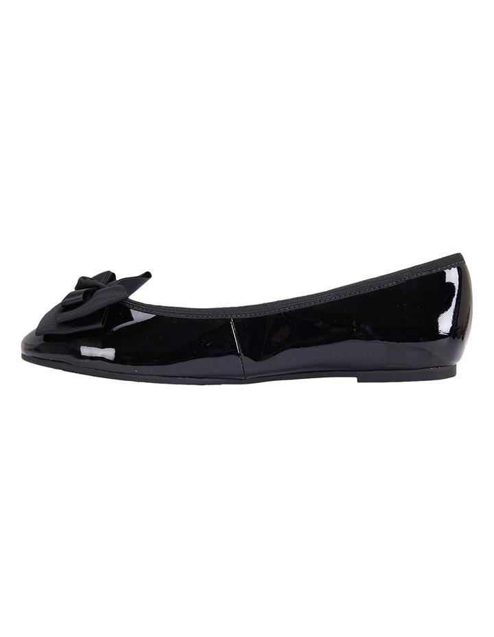 Gem Black Patent Flat Shoes image 3