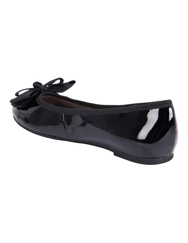 Gem Black Patent Flat Shoes image 4