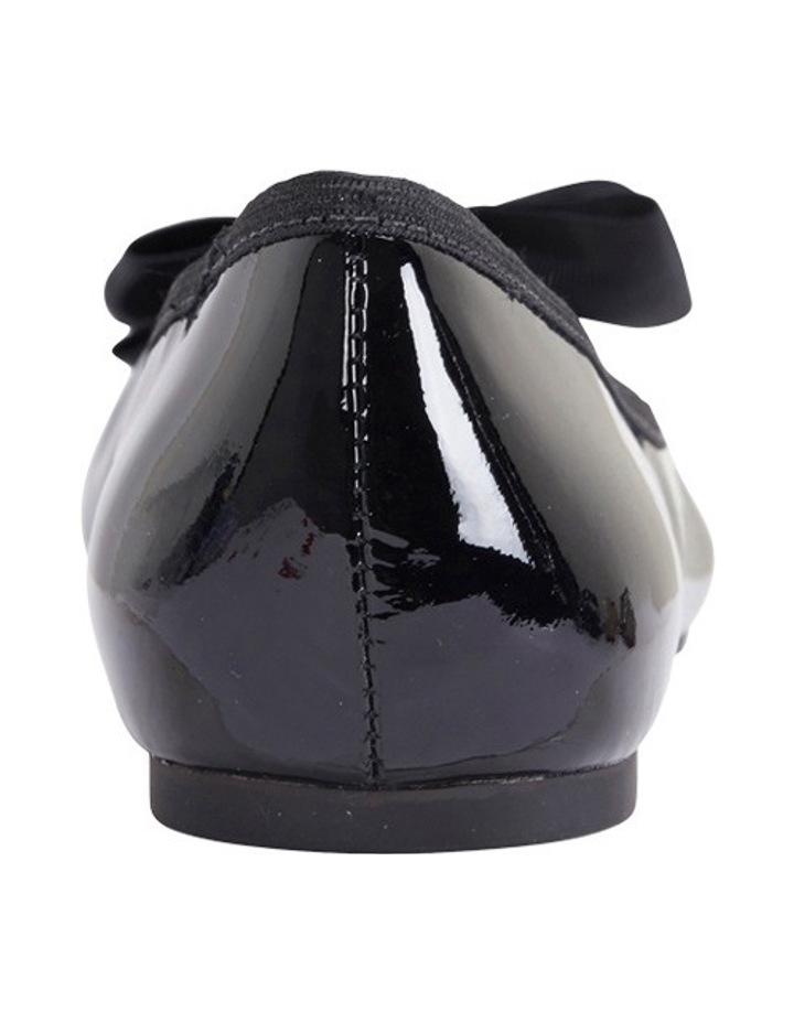 Gem Black Patent Flat Shoes image 5