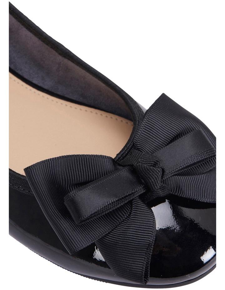 Gem Black Patent Flat Shoes image 7