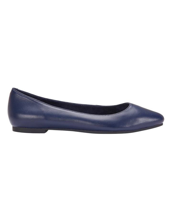 Lucia Navy Glove Flat Shoes image 1