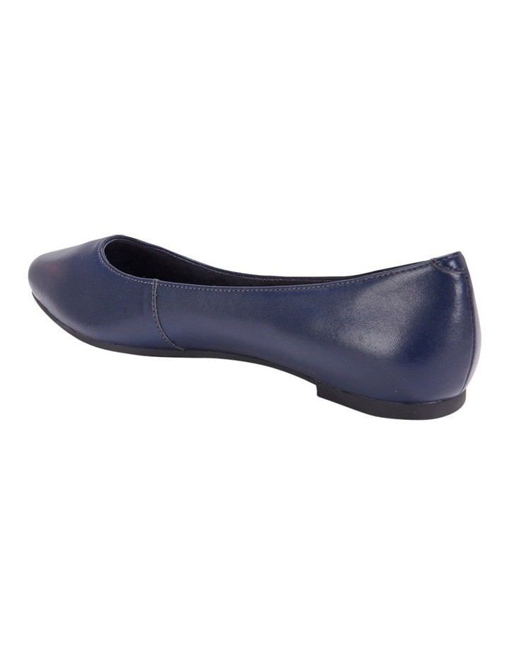 Lucia Navy Glove Flat Shoes image 2