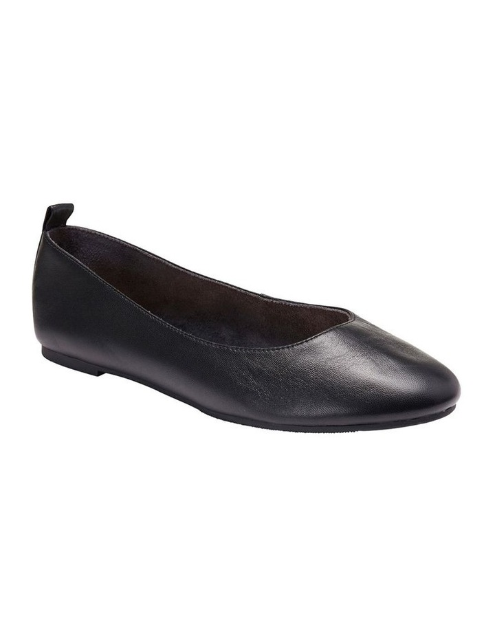 Gaze Black Glove Flat Shoes image 3
