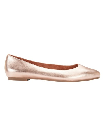 fc0ba25871a1 Sandler Lucia Rose Gold Metallic Flat Shoes