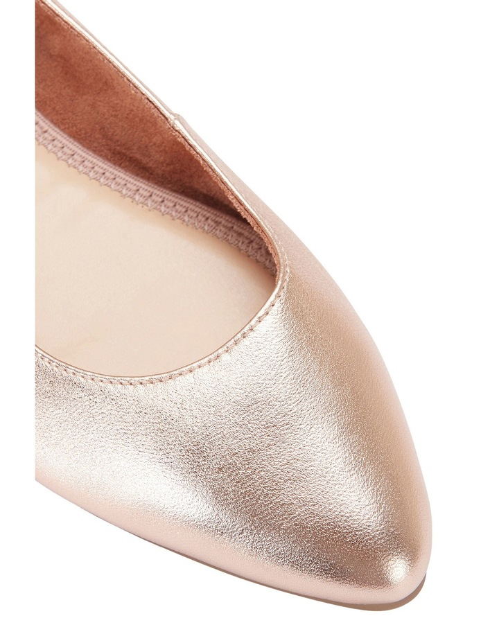 Lucia Rose Gold Metallic Pump image 4