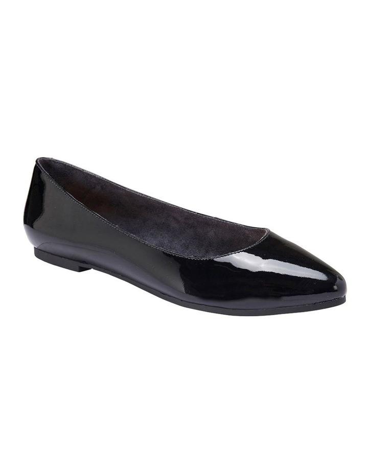 Lucia Black Patent Flat Shoes image 3