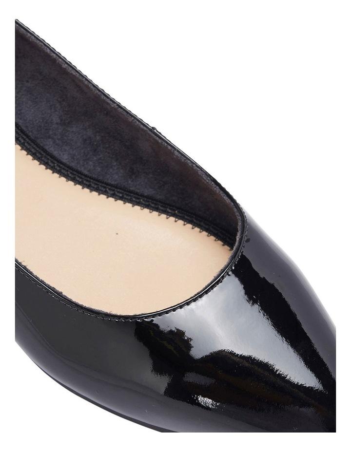 Lucia Black Patent Flat Shoes image 5