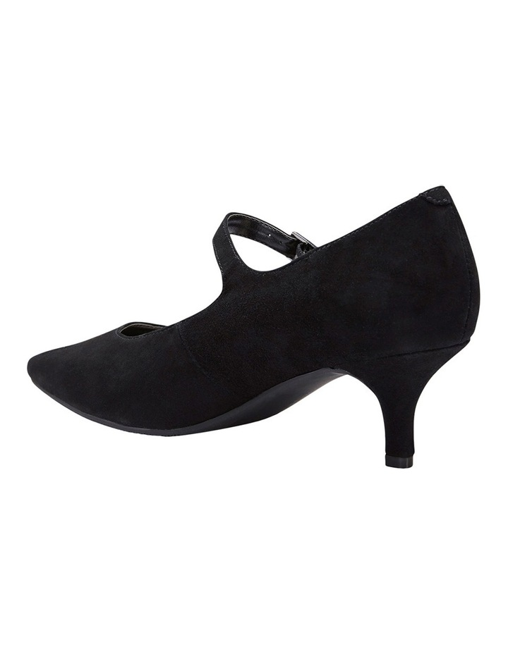 Neon Black Suede Heeled Shoes image 4