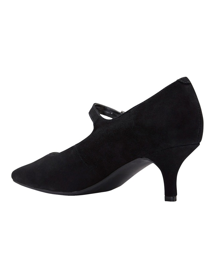 Neon Black Suede Heeled Shoes image 9