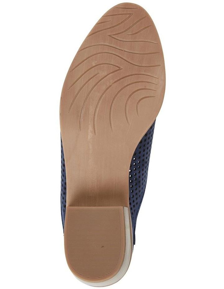 Mystic Navy Nubuck Heeled Shoes image 6