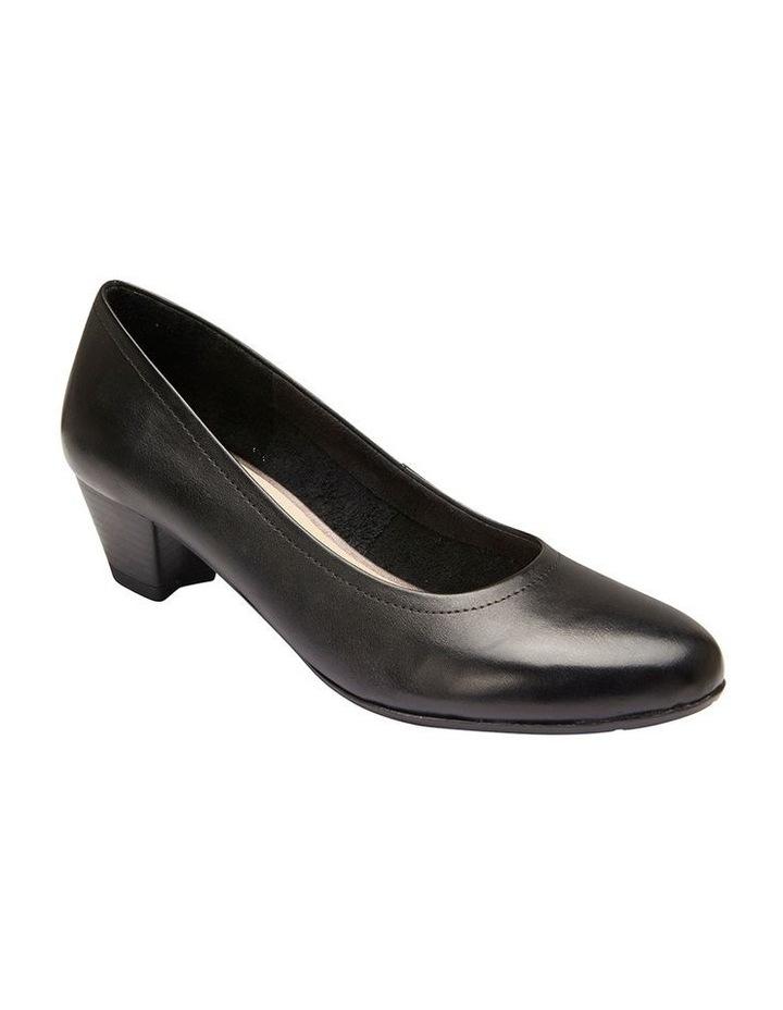 Ollie Black Glove Heeled Shoe image 2