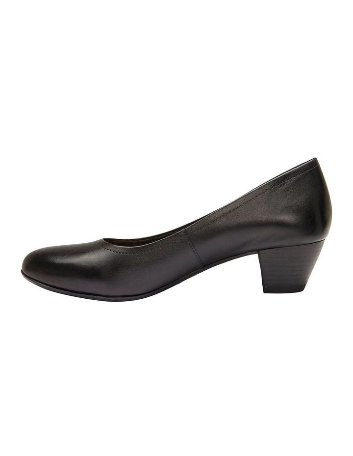 Ollie Black Glove Heeled Shoe image 3