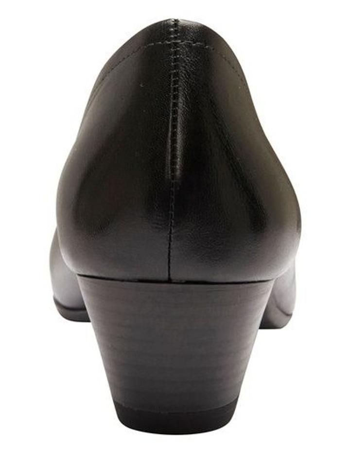 Ollie Black Glove Heeled Shoe image 5