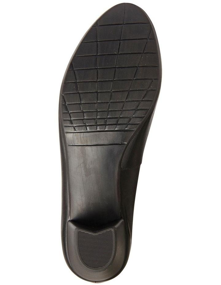 Ollie Black Glove Heeled Shoe image 6