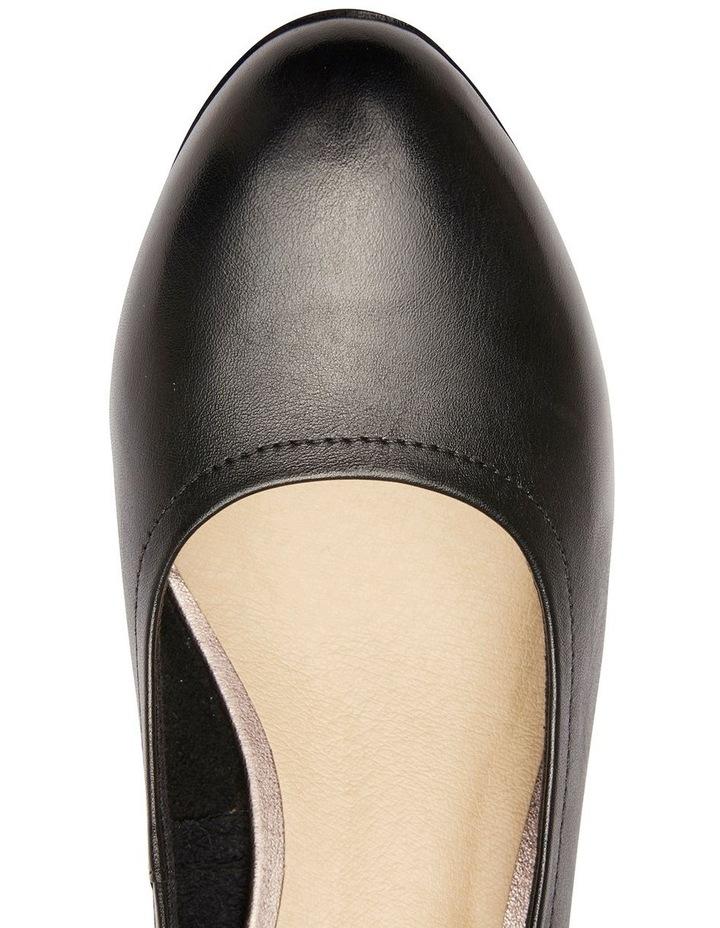 Ollie Black Glove Heeled Shoe image 7