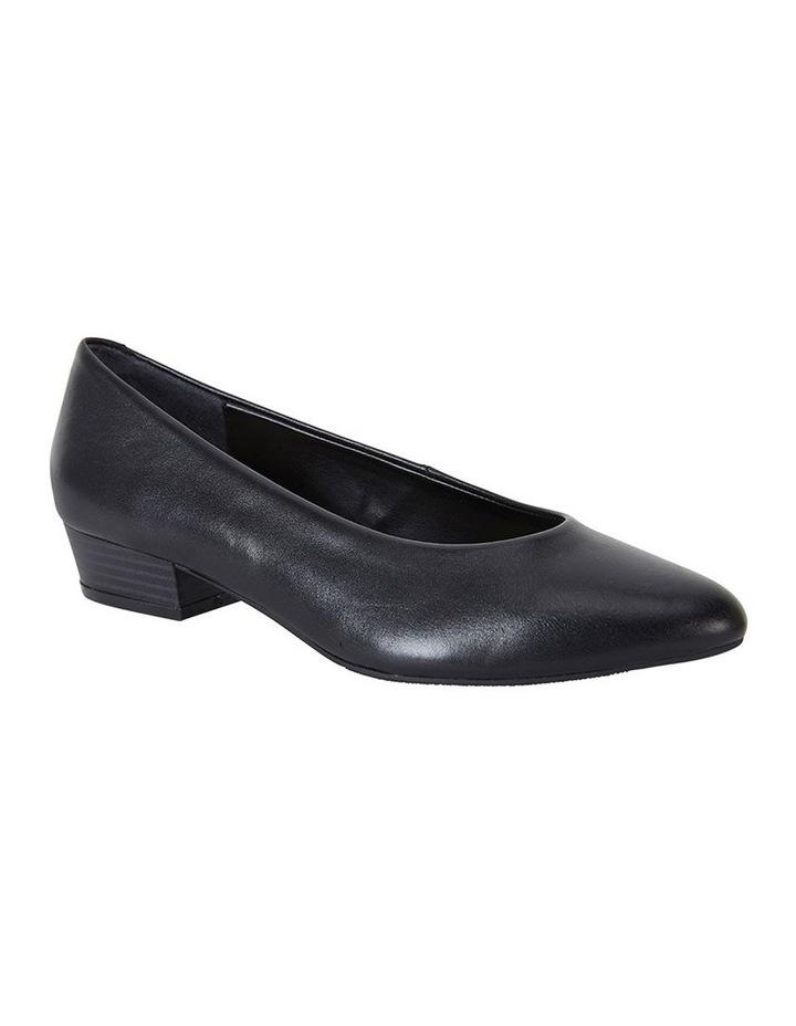 Emily Black Glove Heeled Shoe image 2