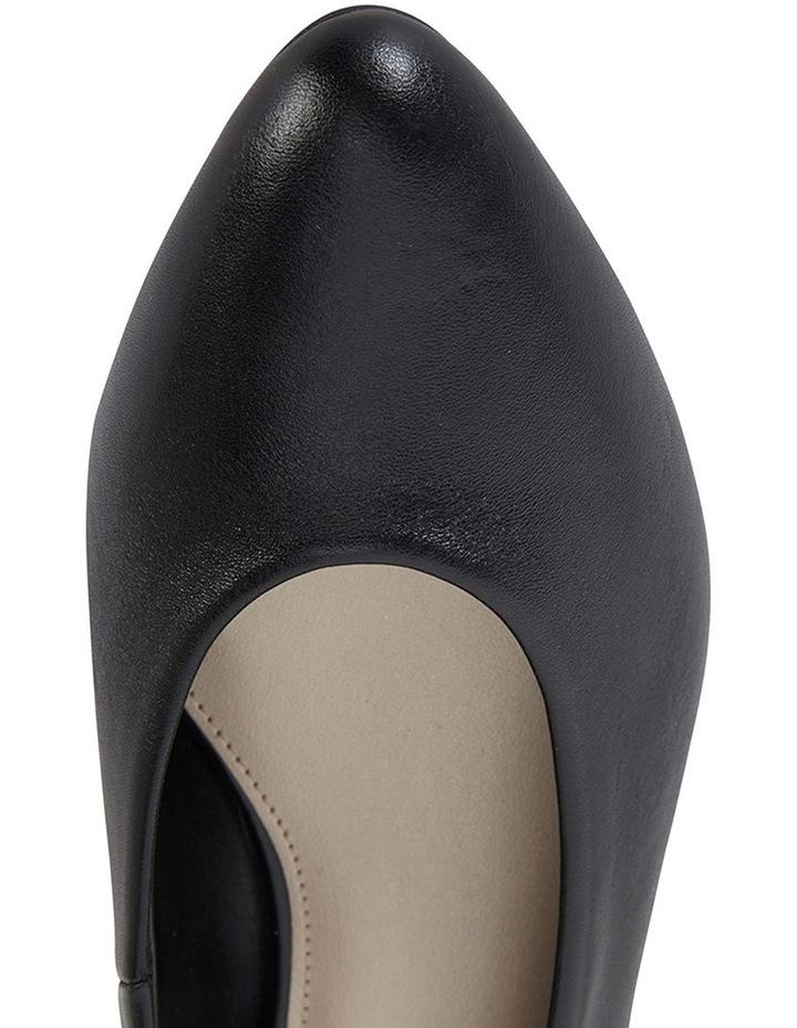 Emily Black Glove Heeled Shoe image 7