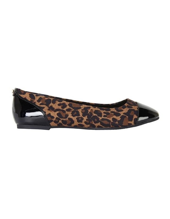 Gemini Animal Print / Black Patent Flat Shoe image 1