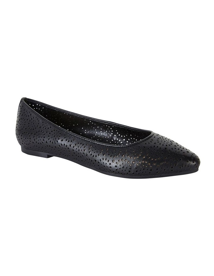Leah Black Glove Flat Shoe image 2