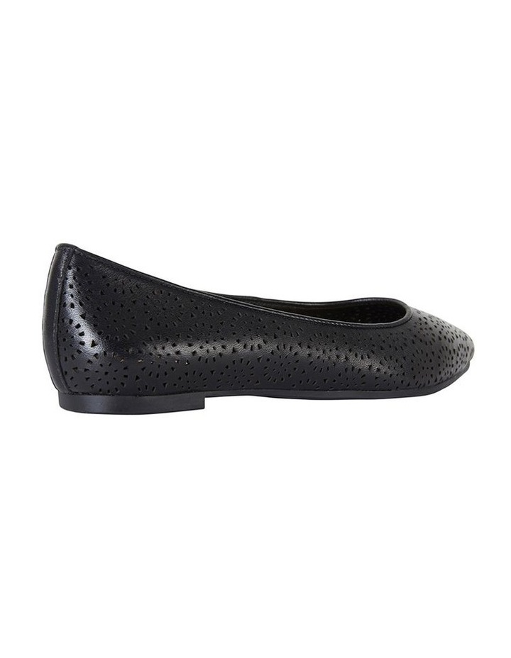 Leah Black Glove Flat Shoe image 4