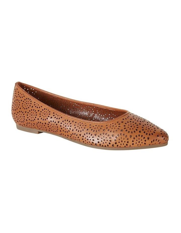 Leah Cognac Glove Flat Shoe image 2
