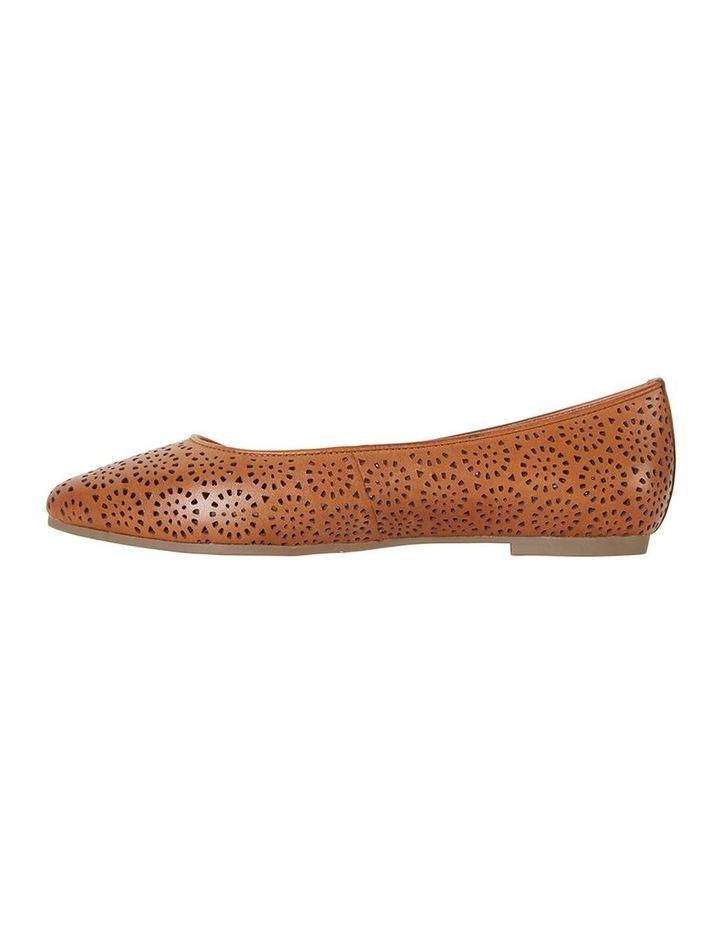 Leah Cognac Glove Flat Shoe image 3