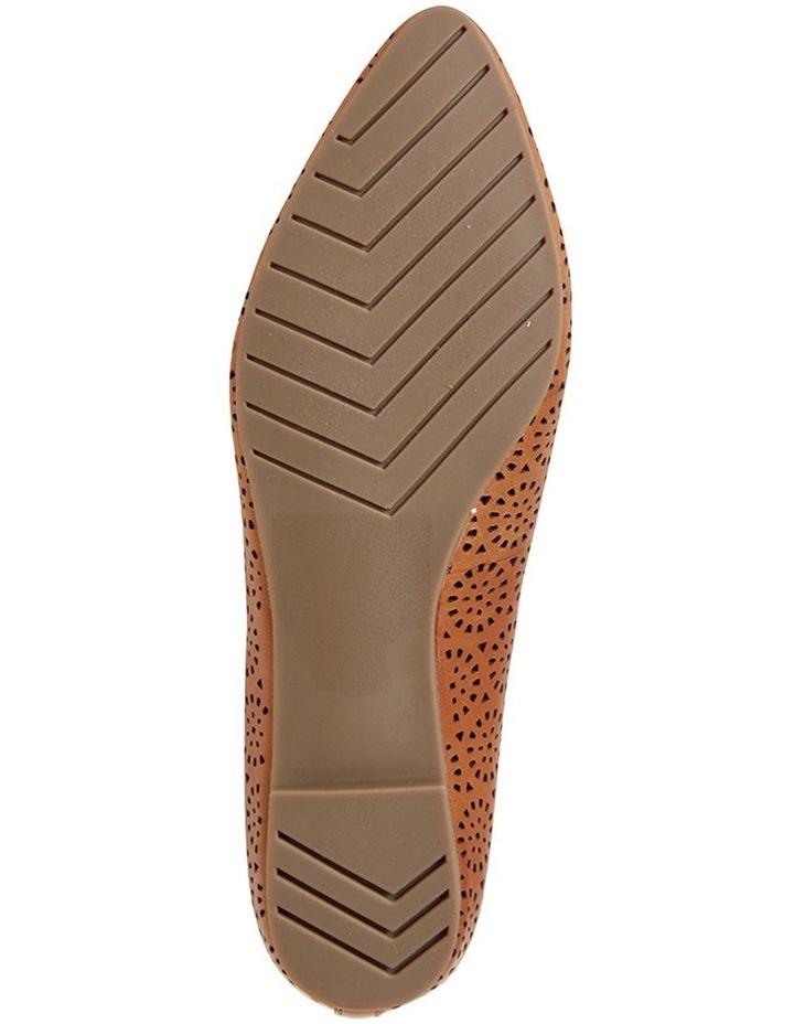 Leah Cognac Glove Flat Shoe image 5
