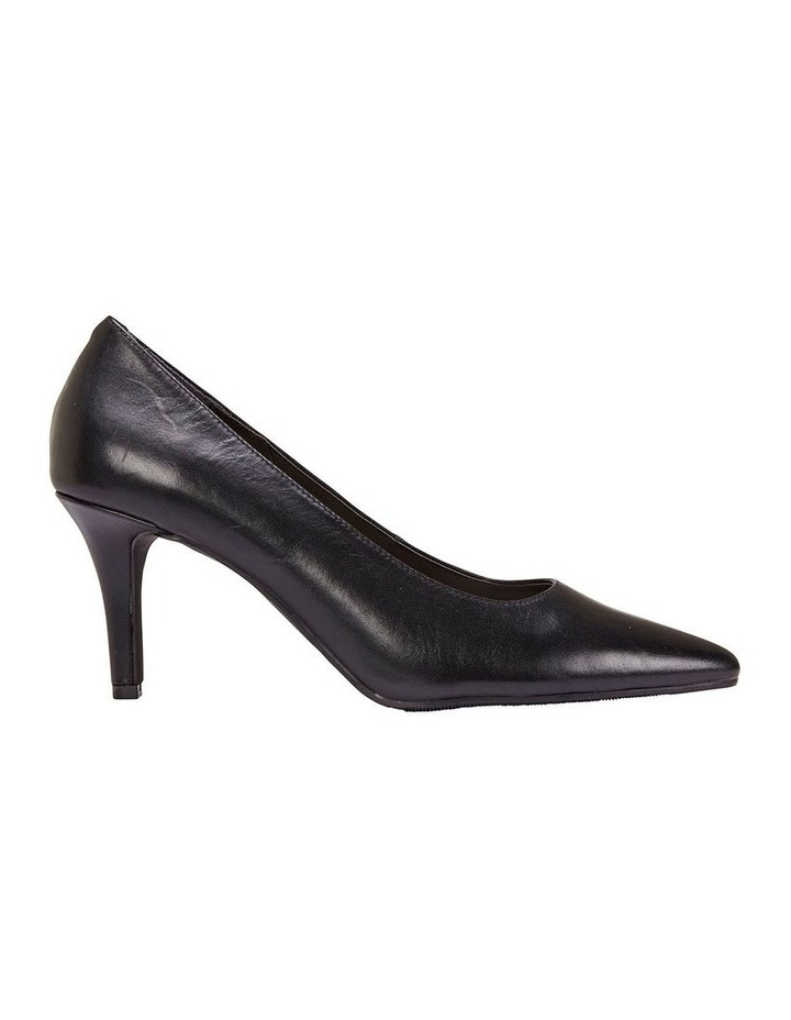 Milan Black Glove Heeled Shoe image 1
