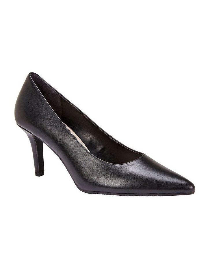 Milan Black Glove Heeled Shoe image 2
