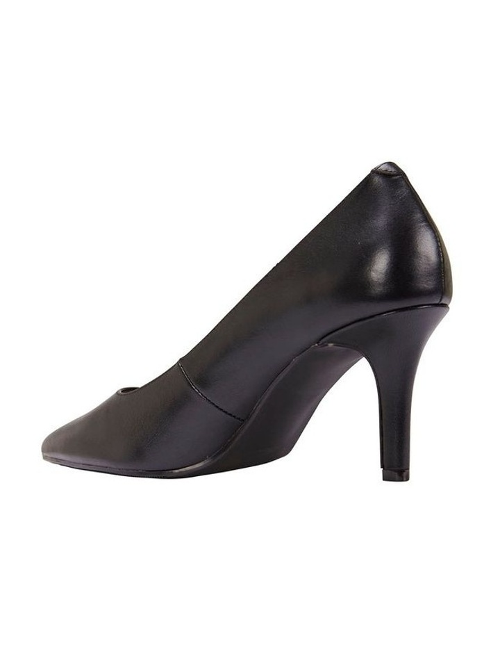 Milan Black Glove Heeled Shoe image 4