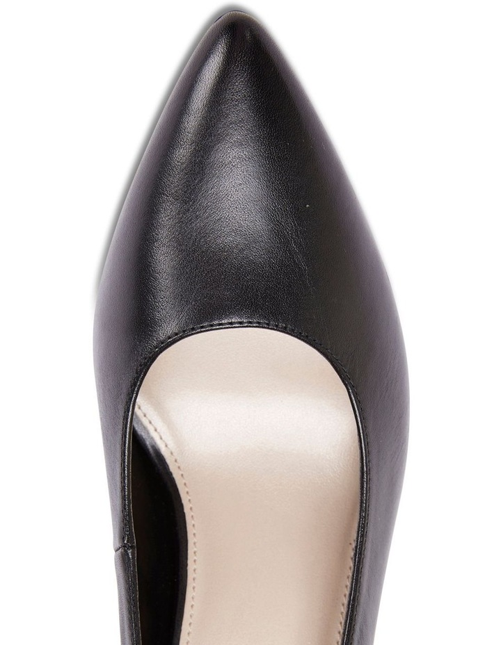 Milan Black Glove Heeled Shoe image 7
