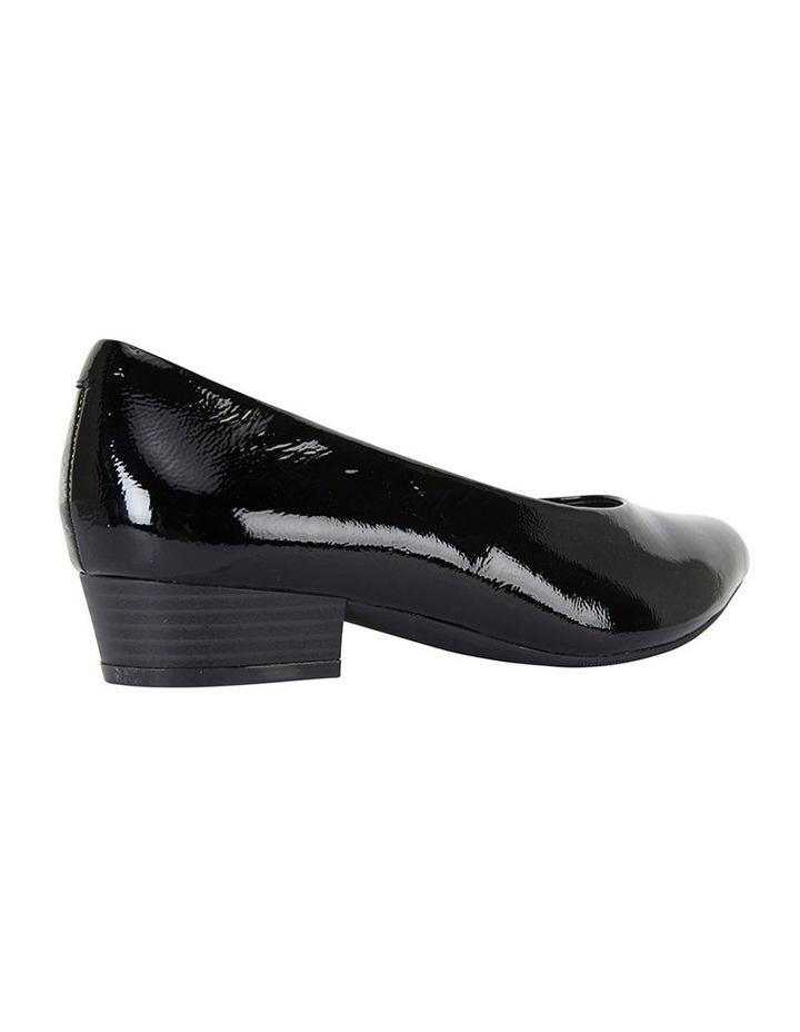 Sandler Emily Black Crinkle Patent Heeled Shoe image 4
