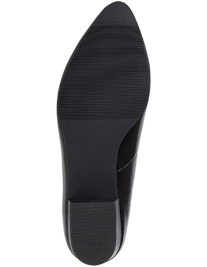 Sandler Emily Black Crinkle Patent Heeled Shoe image 6