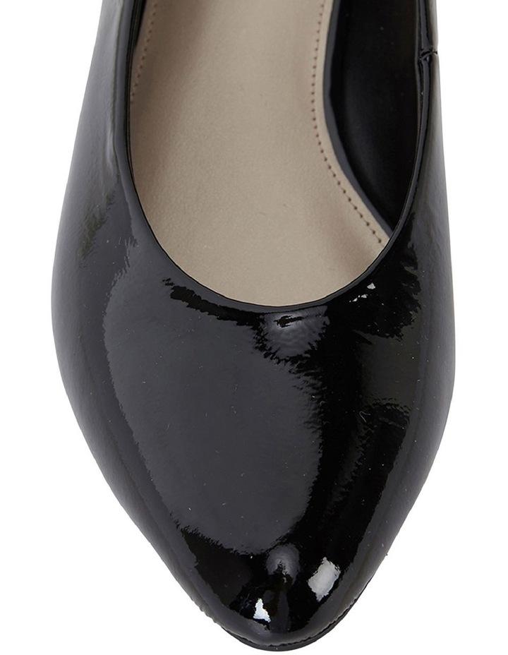 Sandler Emily Black Crinkle Patent Heeled Shoe image 7