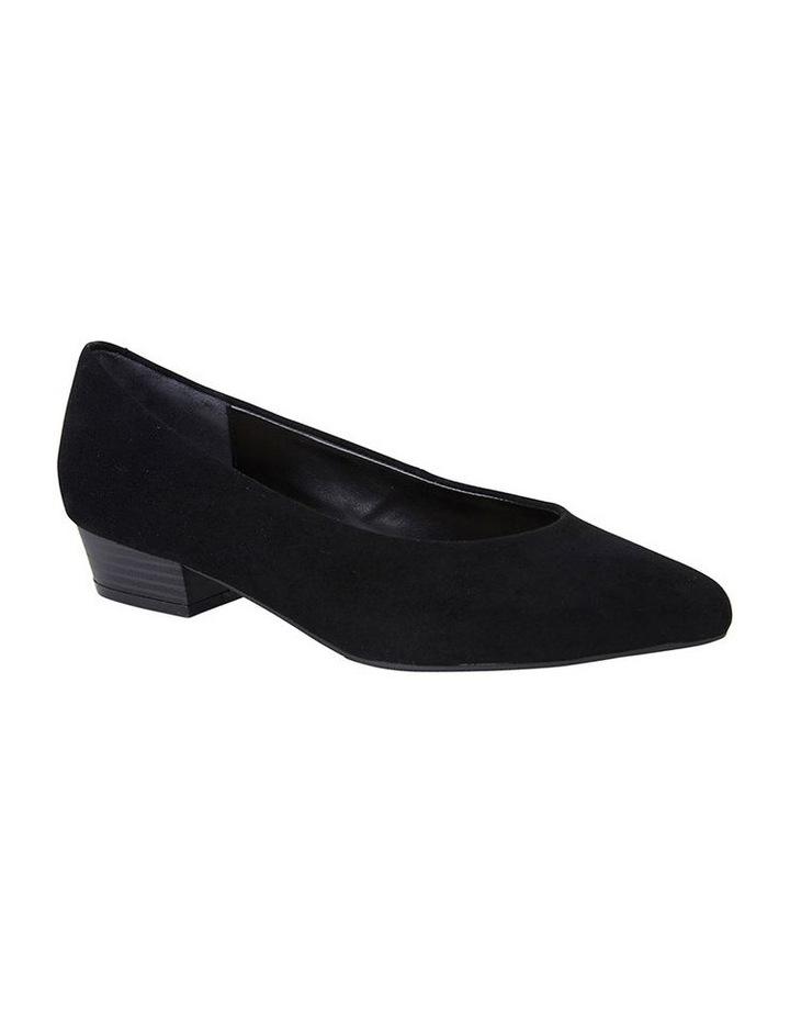 Sandler Emily Black Suede Heeled Shoe image 2