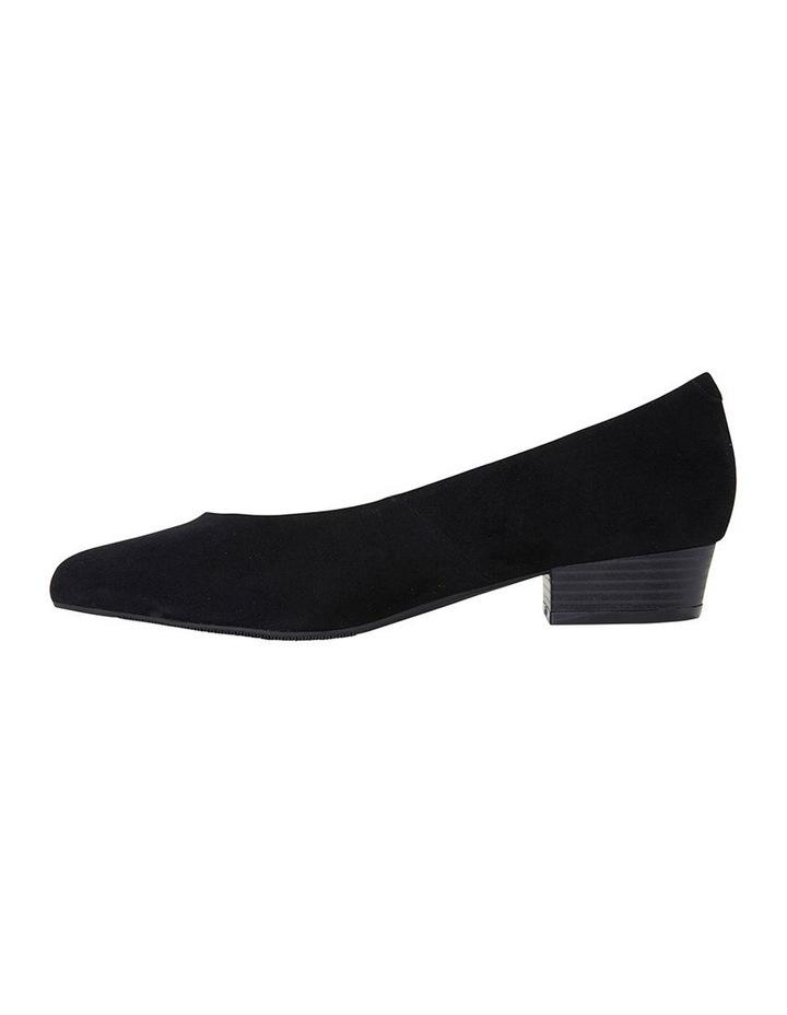 Sandler Emily Black Suede Heeled Shoe image 3