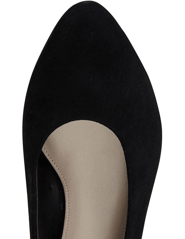 Sandler Emily Black Suede Heeled Shoe image 7