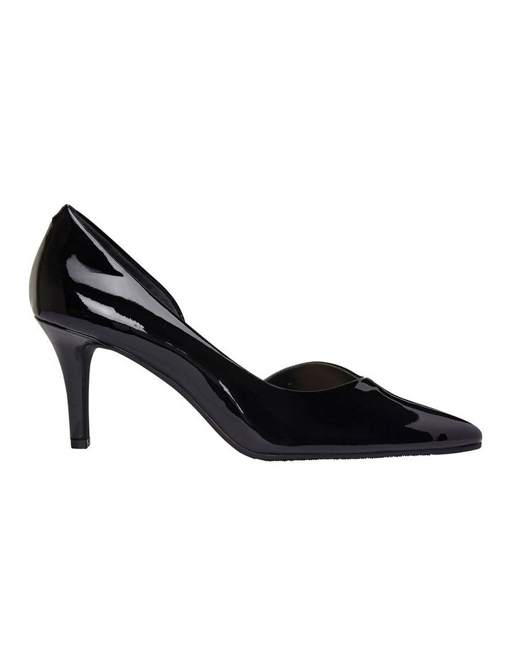 Mikado Black Patent Heeled Shoe image 1