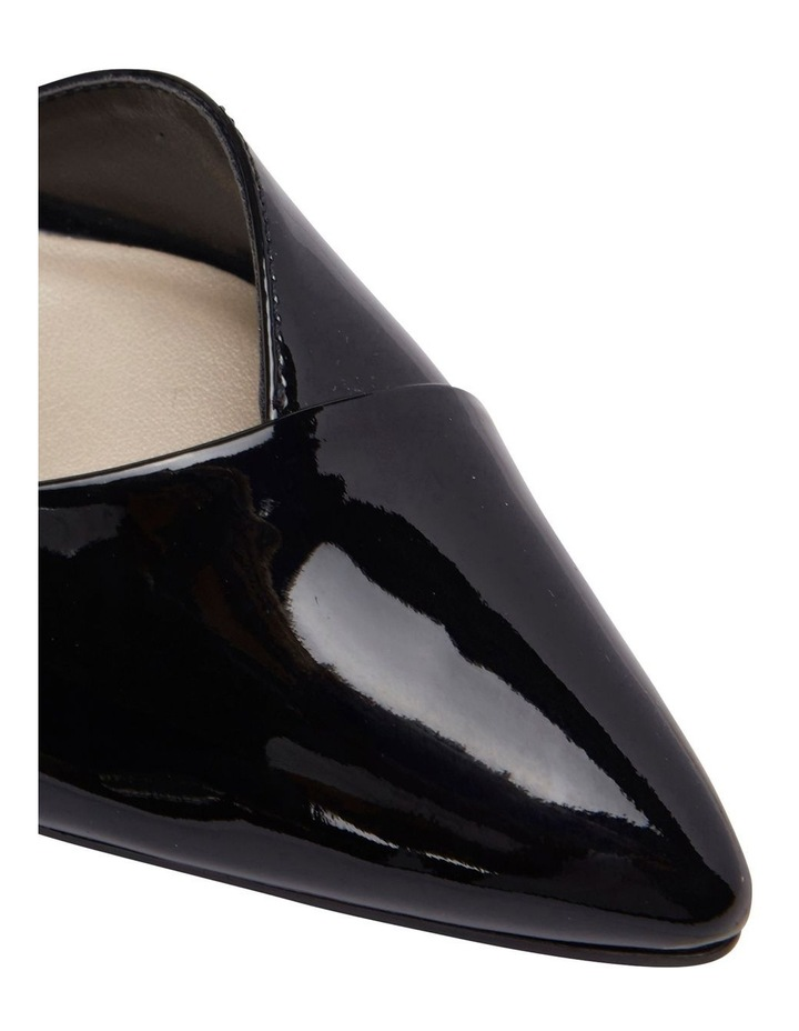 Mikado Black Patent Heeled Shoe image 7