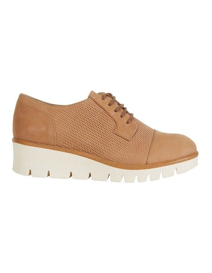 Vega Tan Nubuck Flat Shoes image 1