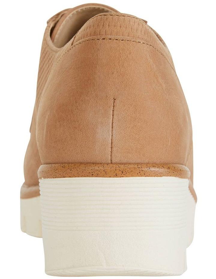 Vega Tan Nubuck Flat Shoes image 4