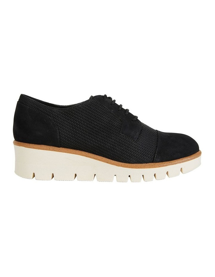 Vega Black Nubuck Flat Shoes image 1