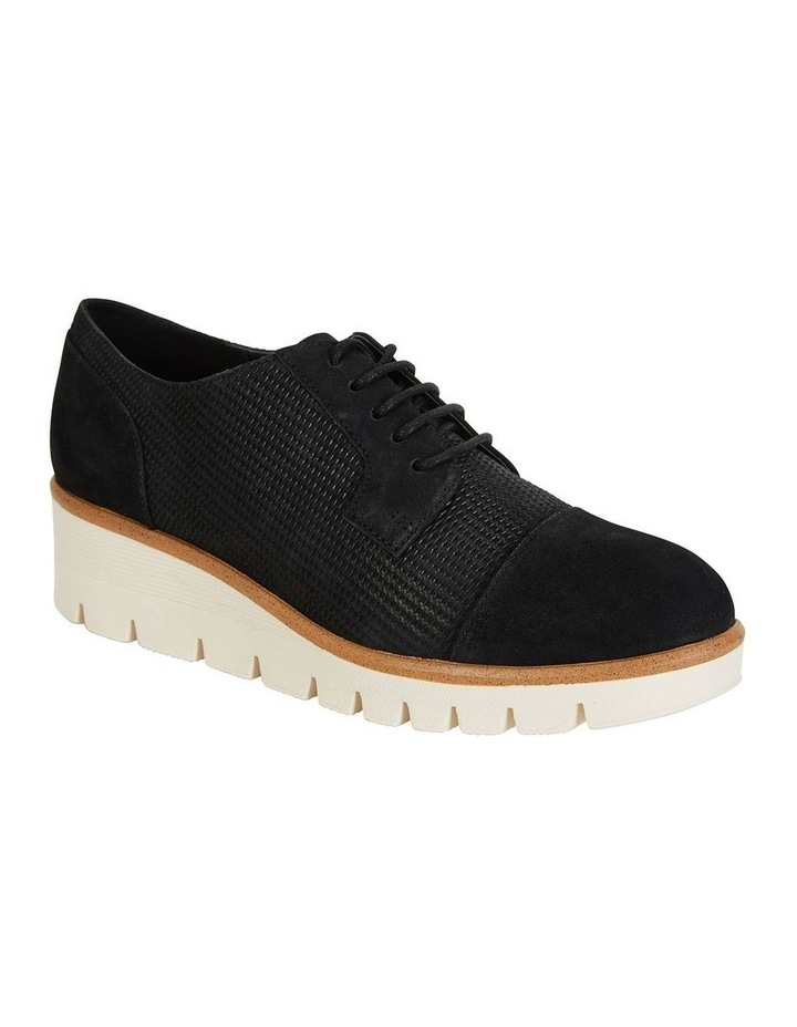 Vega Black Nubuck Flat Shoes image 2