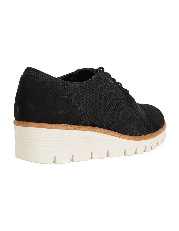Vega Black Nubuck Flat Shoes image 4