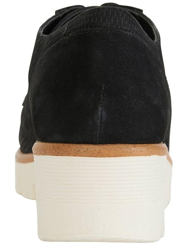 Vega Black Nubuck Flat Shoes image 5