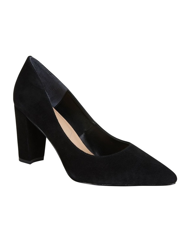 Lyric Black Suede Heeled Shoes image 1