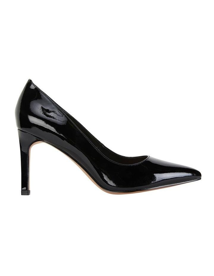 Octavia Black Patent Heeled Shoes image 1
